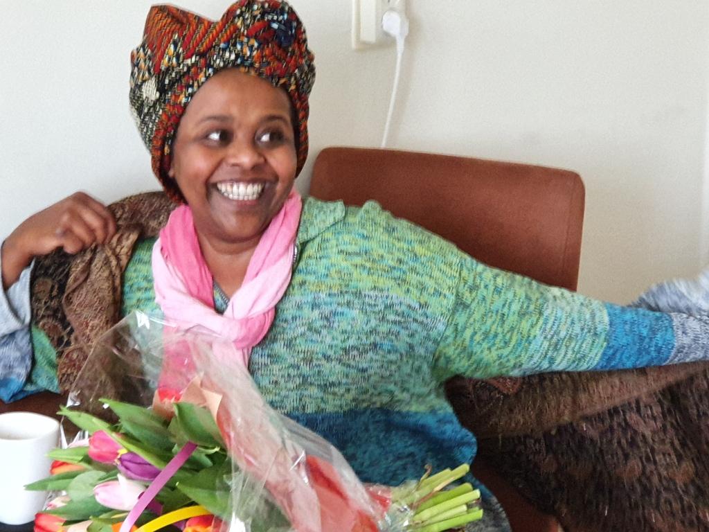 Eén van de drie genomineerden was mevrouw Mulki Haji Abukar uit Bilthoven.  © De Vierklank