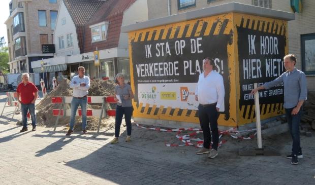 De plaatsing heeft bij de Ondernemersvereniging Bilthoven Centrum aangezet tot het ondernemen van duidelijke acties.  Foto: Guus Geebel © De Vierklank