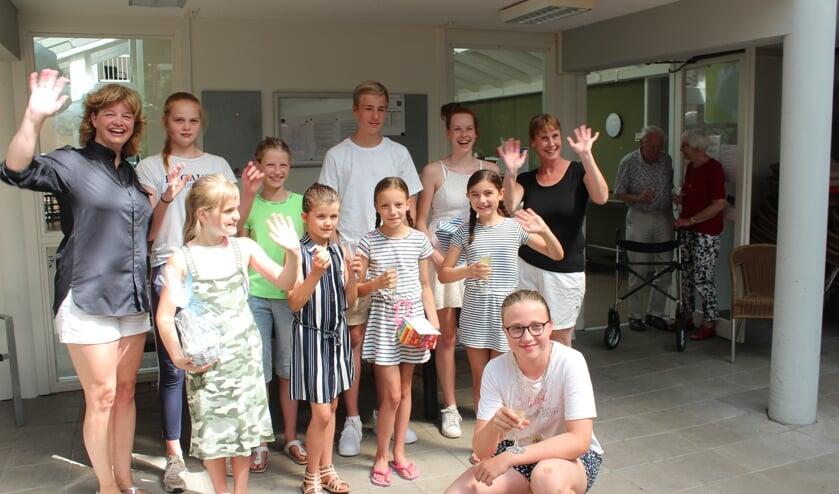 Onlangs was er weer werk voor de Kinderburgemeester bij de afsluiting van Bakpret in Maartensdijk.
