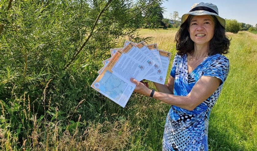 Joanne Ronhaar hoopt dat veel fietsers weer hun weg weten te vinden door het mooie De Bilt.