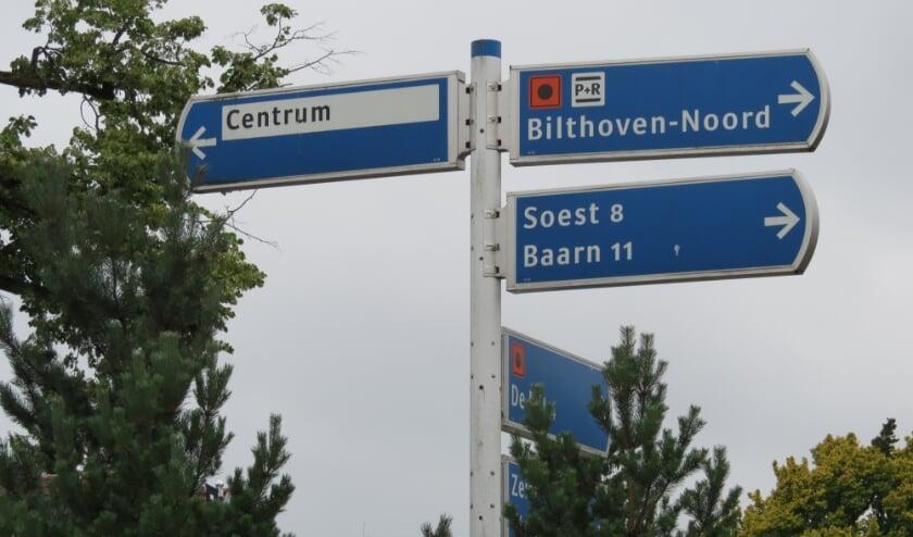 De weg naar Bilthoven-Noord.