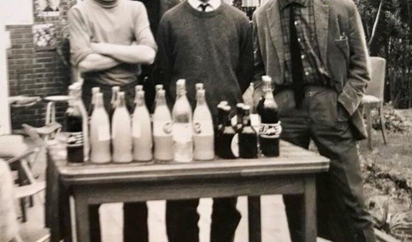 V.l.n.r. Jan, Jan de Buck, Richard den Dekker en Henk.