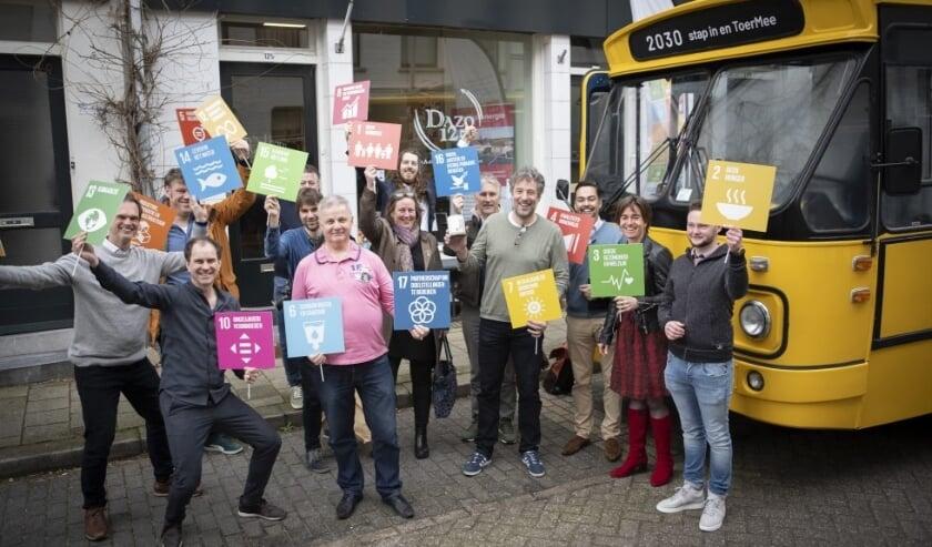 De duurzame ontwikkelingsdoelen zijn vastgelegd in 17 Sustainable Development Goals om van de wereld een betere plek te maken in 2030. SDG Nederland toert regelmatig rond om deze doelen breder uit te dragen. (foto Corné Ooms - Creative Commons)