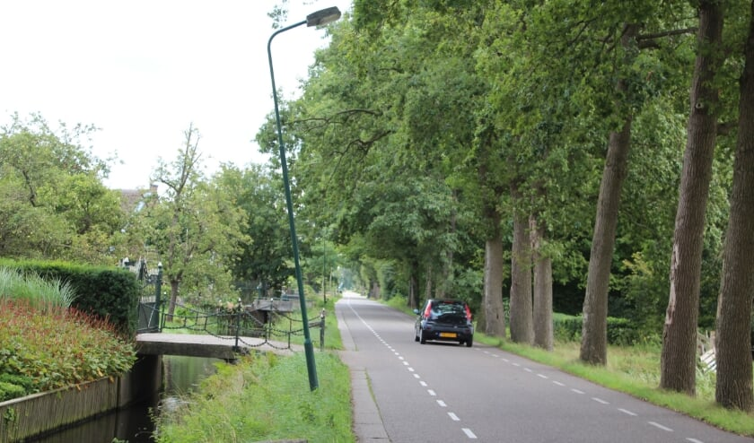 Lantaarnpalen langs de dokter Welfferweg zakken scheef.