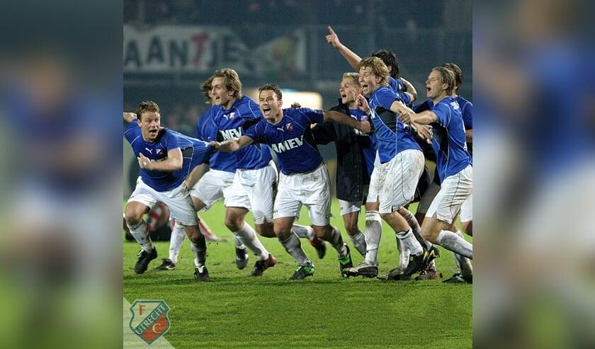 In de halve finale in 2004 FC Utrecht – Sparta scoorde Joost Broerse de 3-3. Na penalty's bereikte FC Utrecht de finale en won de beker door van FC Twente te winnen. Joost Broerse 2e speler van links.