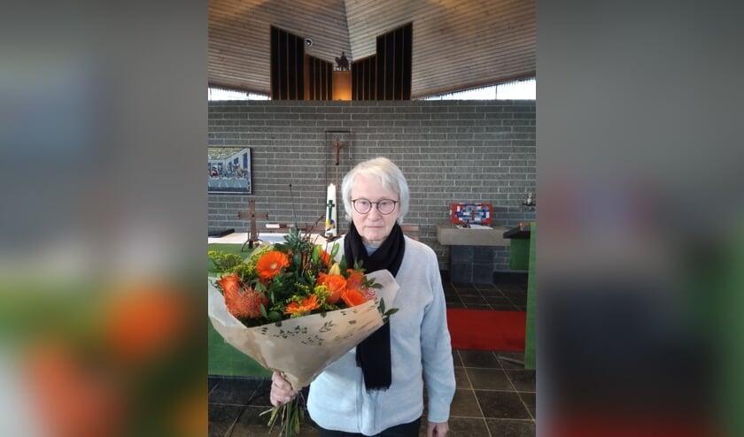 Bloemen voor An Kolfschoten op Valentijnsdag.