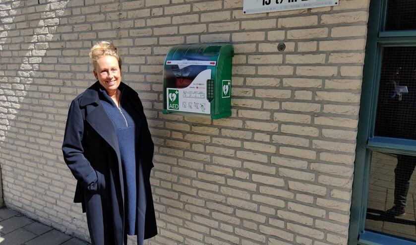 Aan de Wissellaan in Bilthoven hangt inmiddels een AED.