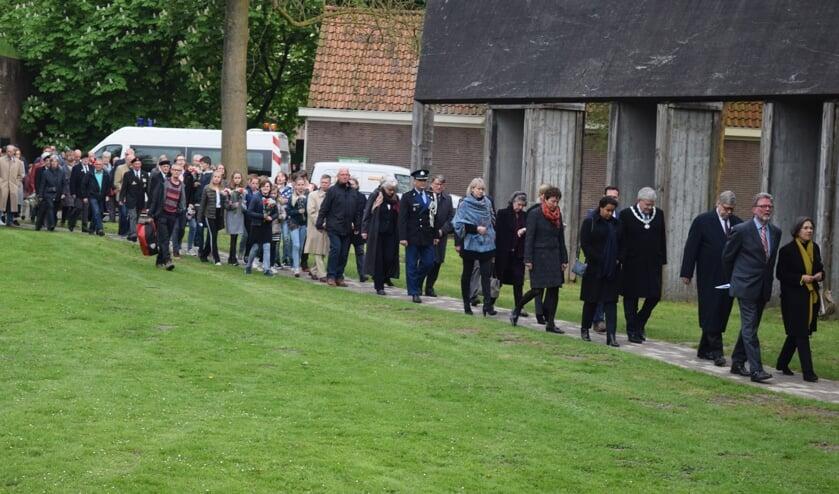 In 2018 (foto) was de laatste herdenking met publiek bij Fort De Bilt. [foto Walter Eijndhoven]