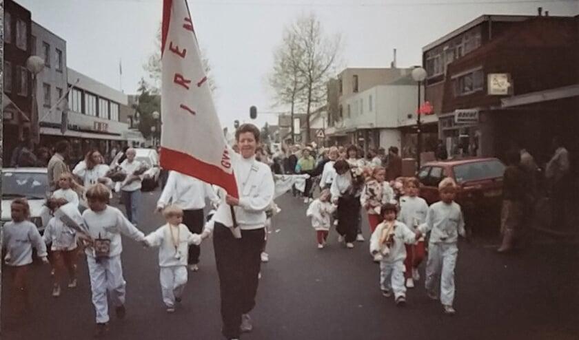 <p><em>In de jaren 70 was de wandelafdeling actief. Hier als deelnemer aan een Avondvierdaagse in die periode in De Bilt</em></p>