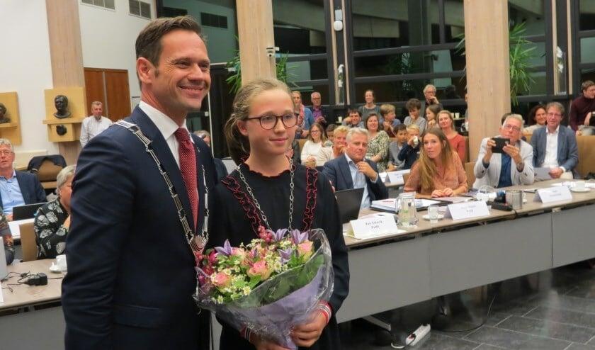 Carmen Braak werd in 2019 als kinderburgemeester geïnstalleerd.