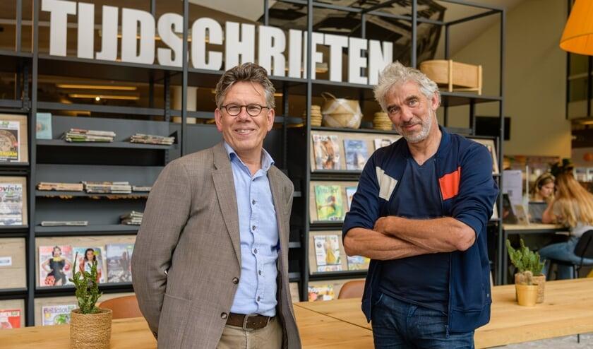 Links Rob Schouw (Kunstenhuis), rechts Frans Funnekotter (Idea). (foto Mel Boas)