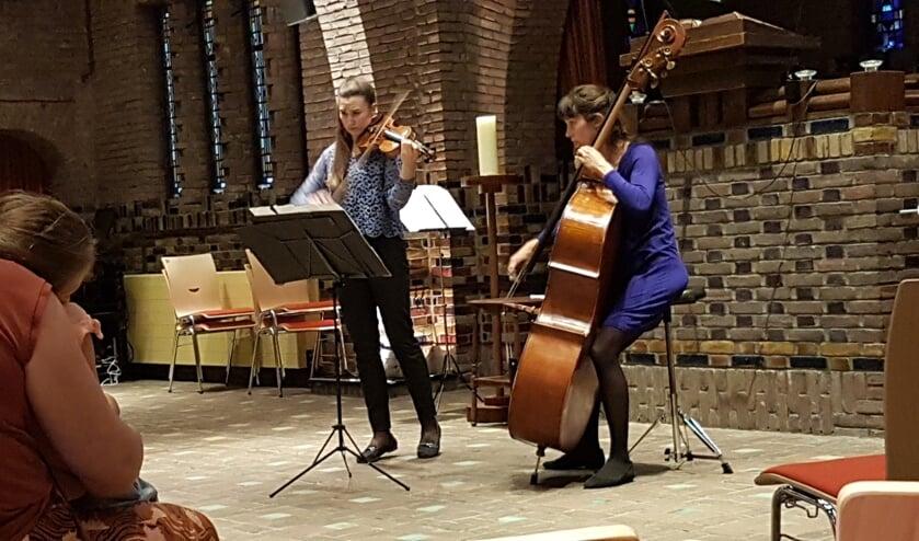 Het Duo Kirsti-Eva concerteerde afgelopen zaterdag in de Woudkapel te Bilthoven.