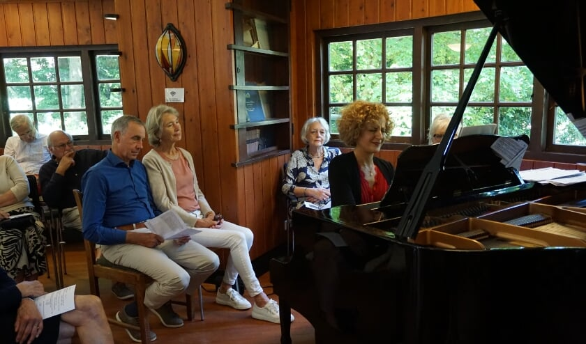 Ketevan Sharumashvili in de intieme setting van Huize Gaudamus.