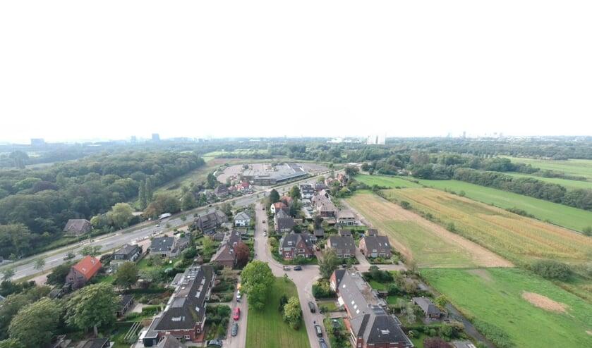 Voormalig Hessing-terrein gezien vanuit De Bilt. (foto Nienke van Weele)