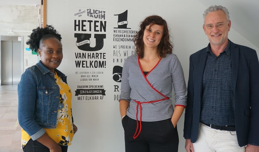 <p><em>V.l.n.r. Lilian Zawedde, Willeke Colenbrander en Hinnejan Elswijk.</em></p>