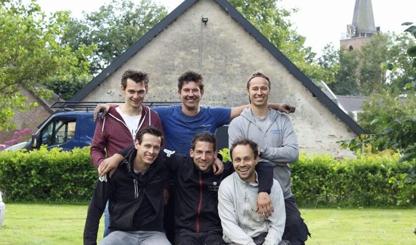 V.l.n.r. (boven) Lambert Horst, Ad van den Bosch en Hans van Vlastuin. Onder: Tonny Veenema, Matthias van Beest en Jan van Woudenberg. Niet op de foto Rick van Vlastuin, Lean Simons, Evert-Jan van Vulpen, Karel van Vlastuin en Eelco van Voorst.