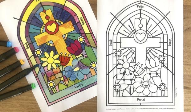 kleurplaat pasen en paasmagazine plus nieuwe website