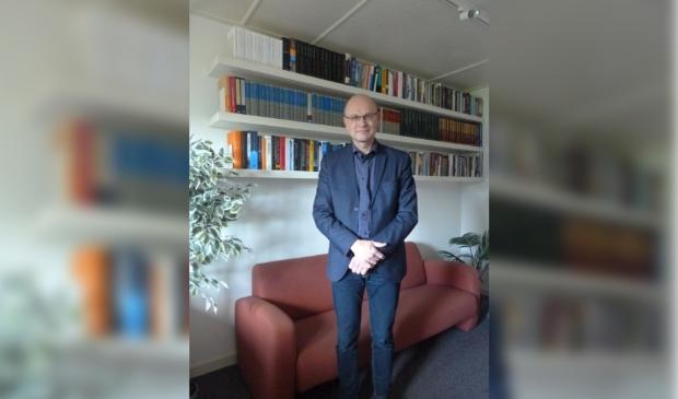 Predikant Kasper Kruithof van de Vrije Evangelische Gemeente in Oldebroek.