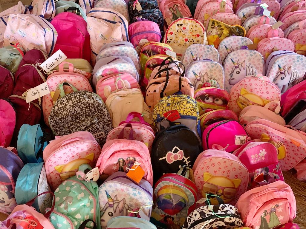 Er werden zo'n 1400 rugzakjes ingezameld in Elburg en  Oldebroek.   © De Veluwe Koerier