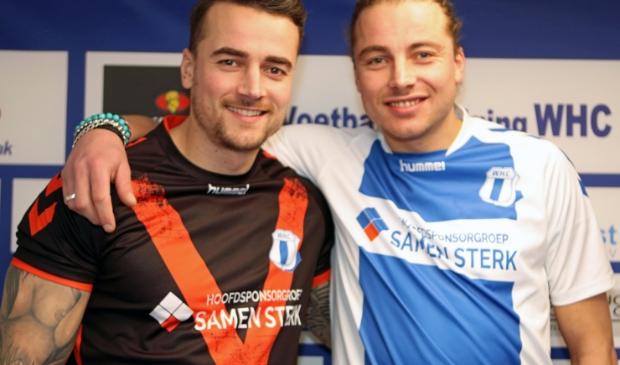 <p>&#39;Samen sterk&rsquo; prijkt er komend seizoen op de WHC-shirts van Joost en Sander Krijns.</p>