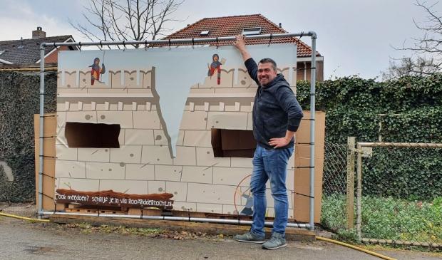 Henk Junte van Supervlaai is enthousiast over de roofriddertocht. Jordy Grootkarzijn © De Veluwe Koerier