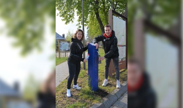 <p>Laura Daanen en Matthijs Bastiaan geven alvast het goede voorbeeld</p>