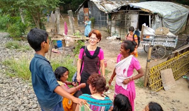 <p>&nbsp;Margriet actief in de sloppenwijk in kader van (basis-)gezondheidswerk.&nbsp;</p>