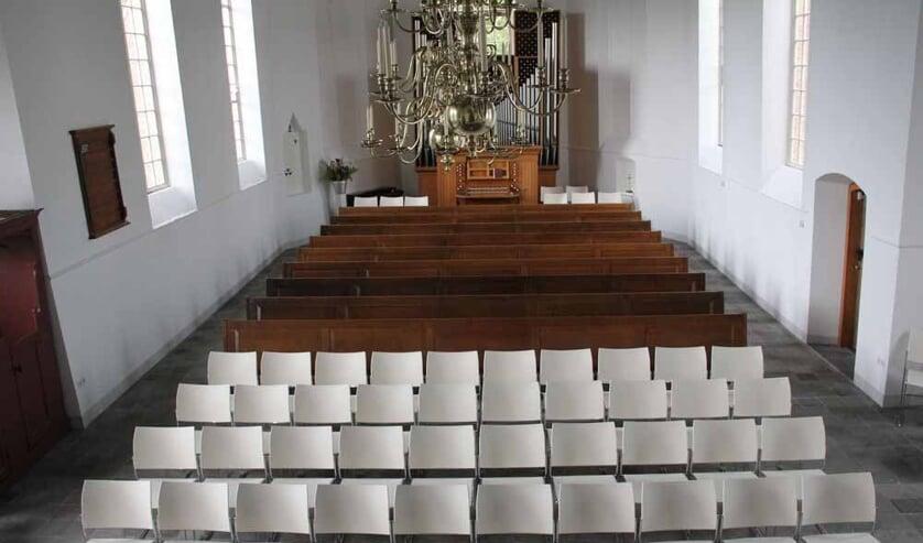 • Kerkgang in de 1,5 meter-maatschappij wordt in Goudriaan nog een hele puzzel.