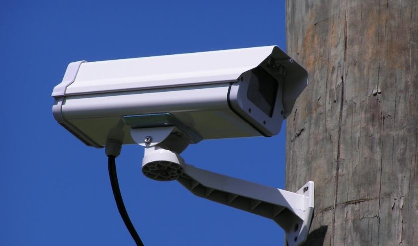 • Een voorbeeld van een beveiligingscamera.