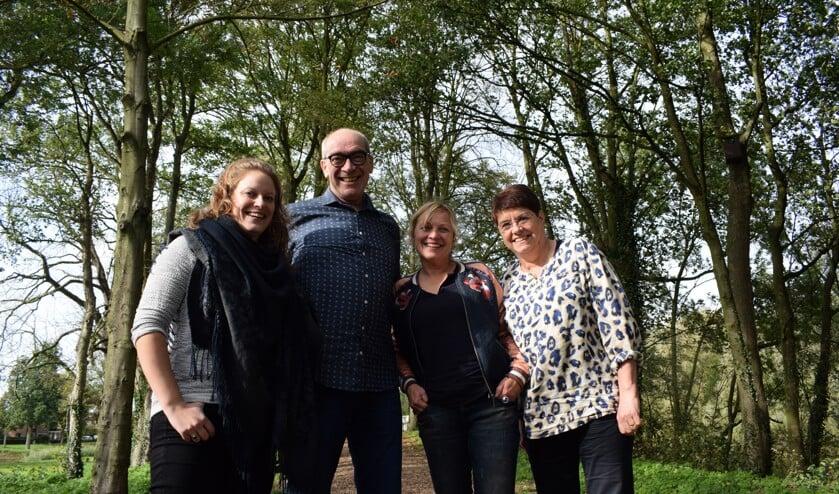 • Van links naar rechts: Linda Maaskant, Pieter van der Keur, Karin Burgers en Monique van Eijndhoven.