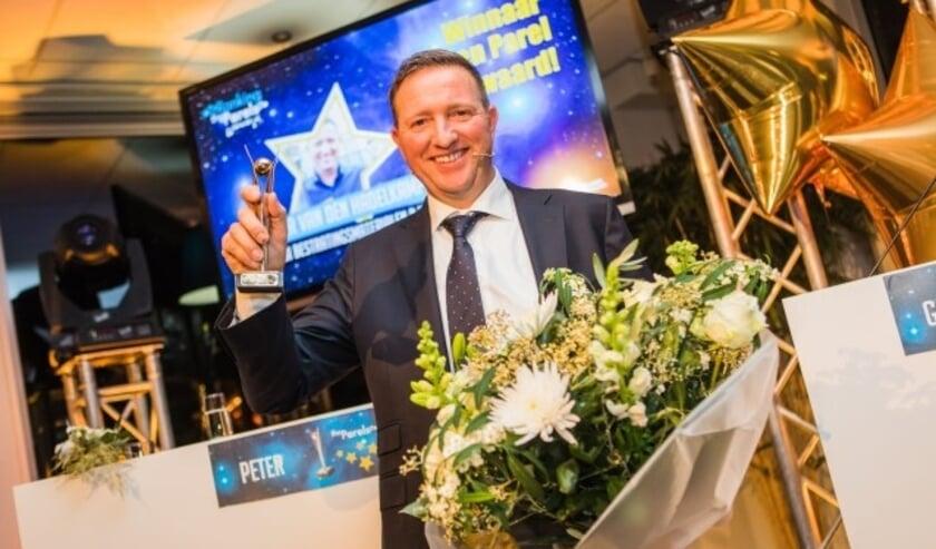 Directeur-eigenaar Peter van den Hadelkamp van TE-BI Bestratingsmaterialen is uitgeroepen tot Lopikerwaards Ondernemer van het Jaar 2017. (Foto: Marina Kemp – Flitsend Fotografie)