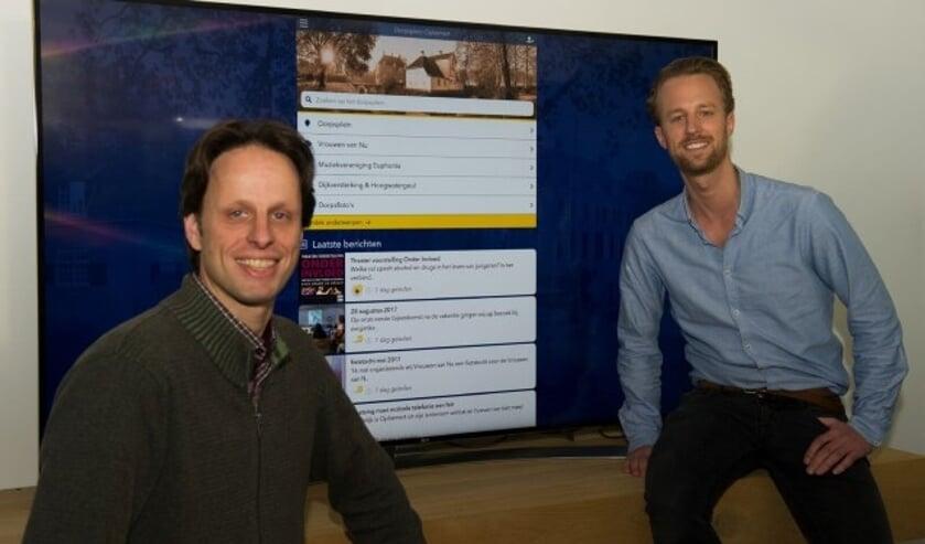 Jens Kleinhout en Stefan Potuit leveren van uit hun vakgebied graag een bijdrage aan de leefbaarheid van de dorpen in Neerijnen. Zij verwachten veel van de nieuwe website.