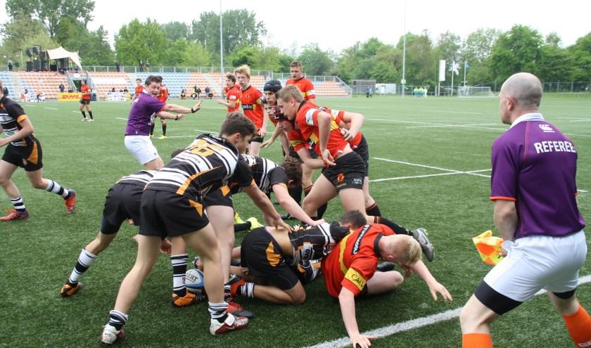 • De teams in de finale waren tegen elkaar opgewassen.