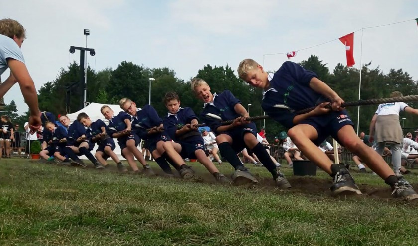 • De Streefkerkse jeugd in actie in België.