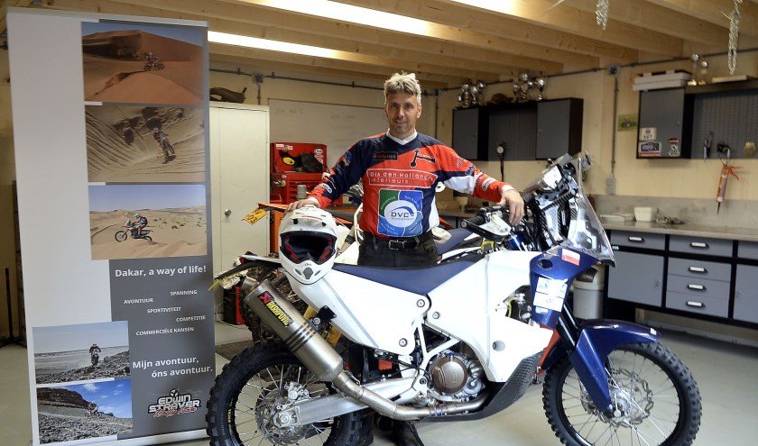 Edwin Straver neemt als 'kistrijder' deel aan de 40e Dakarrally.