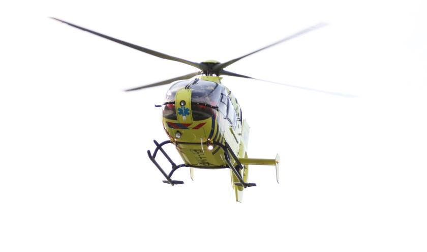• Bij het ongeval werd een traumahelikopter ingezet.