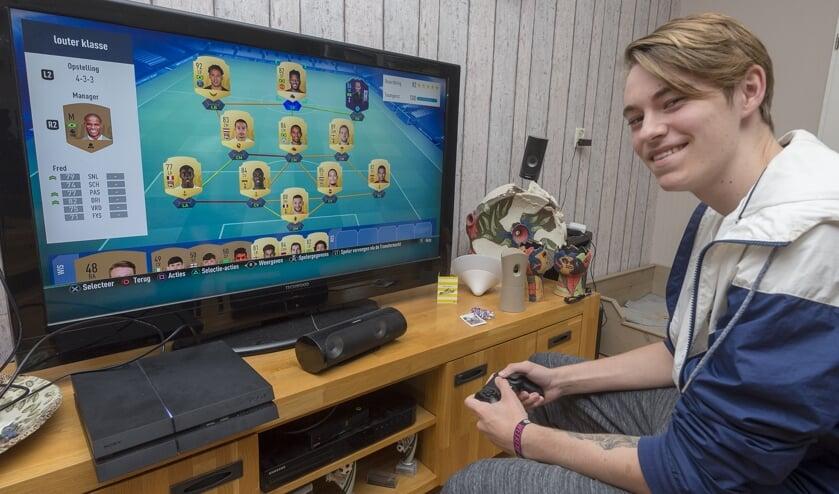 • Sven Counotte wil professioneel gamer worden.