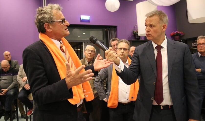 • Arie Keppel tijdens een verkiezingsdebat in 2018.