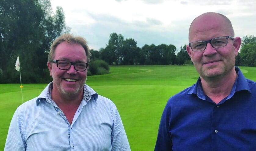 • Hans Schaap (links) en de manager, Joris Slooten (rechts).