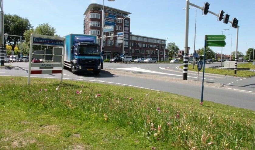 • De grote kruising bij Krimpen aan den IJssel.