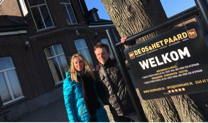 • Charlotte van Brenk en Mathieu Goedhart bij De Os & Het Paard.