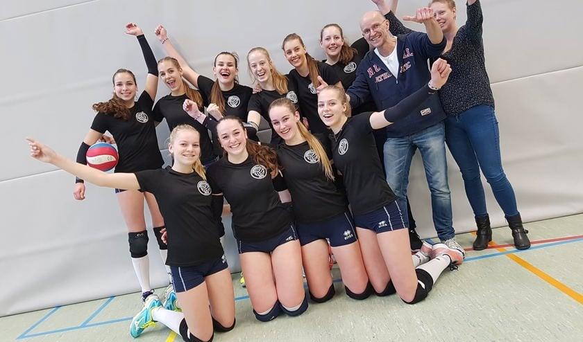 • De dames wonen hun kampioenswedstrijd tegen WIK uit Groot-Ammers met 3-2.