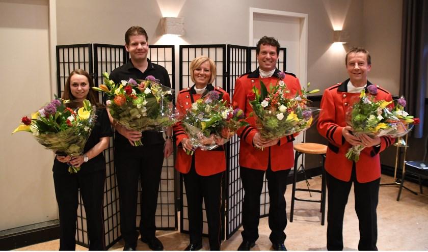 • V.l.n.r: Mieke van Boxtel, Jan van Oers, Willemien van Dijk, Marc van Oers en Tonny van Lent.