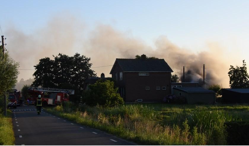 • Schuurbrand vrijdagavond in Stolwijk.