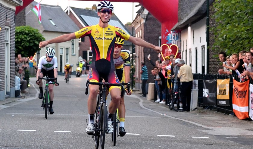 Jarri Stravers uit Groot-Ammers won de Ronde van Noordeloos in 2017.