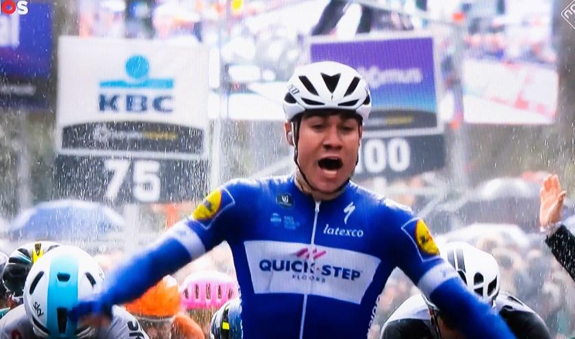 • Fabio Jakobsen (hier actief in de Scheldeprijs) won in Bolsward de massasprint.