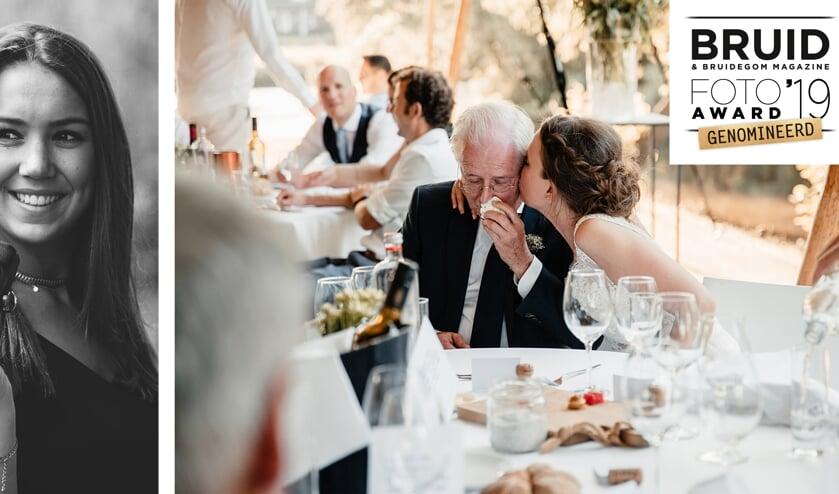 Links Tessa, rechts haar genomineerde foto.