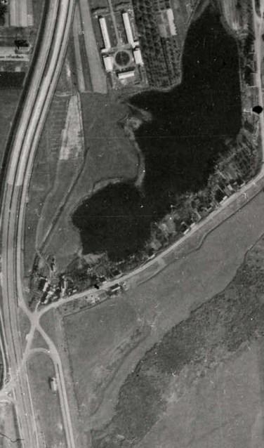 • Het kamp te Hedel (midden boven) – september 1944.