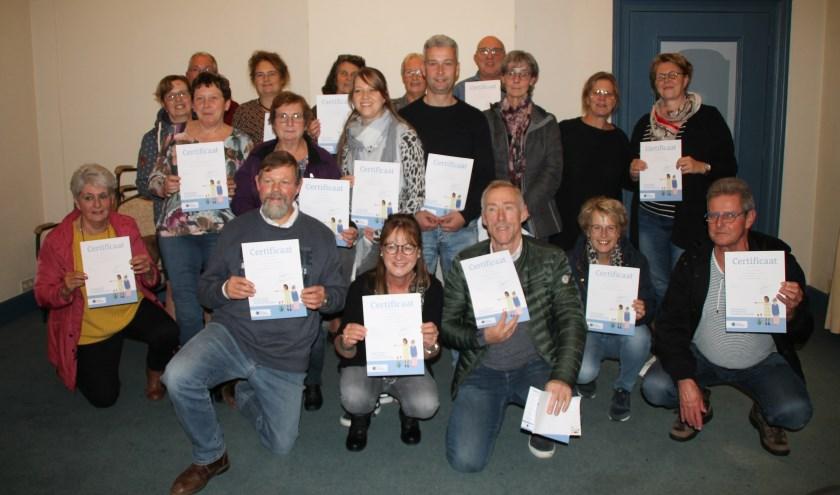 • Na afloop ontvingen de deelnemers een certificaat.