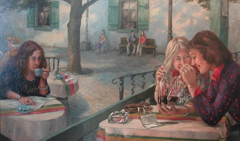 • 'Gossip' is een van de schilderijen van Dick Haakman.